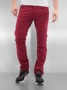 Straight Fit Jeans Quilted in red 31