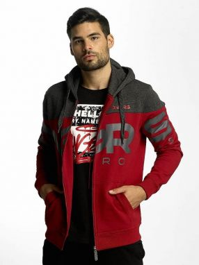 Zip Hoodie Two Tone in red XL