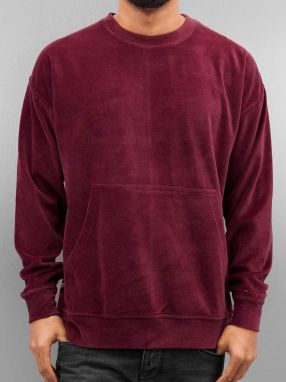 Pullover Velour Samt in red 3XL