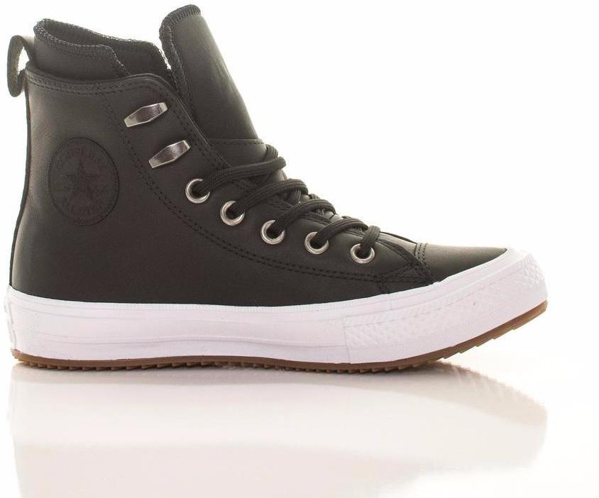 244a0e047921 Black Leather Hi-Top Chuck Taylor Women 36