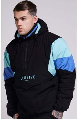 Winter Jacket Black Blue Illusive London L
