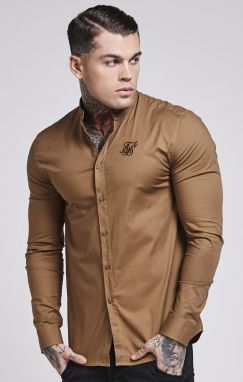 Longsleeve Shirt Brown Oxford S