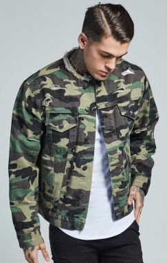 Denim Jacket Camouflage Sik Silk S