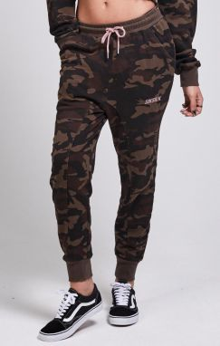 Tepláky SikSilk Fitted camo XS
