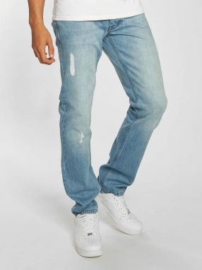 Straight Fit Jeans Moletro Leather Patch in blue 31