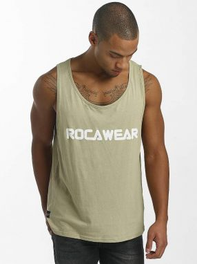 Tank Tops Color Block Khaki 3XL