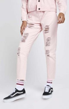 Ripped Jeans Pink R.I.P. Mom Fit XS