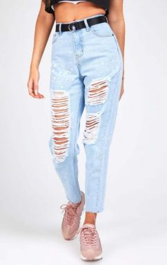 Ripped Jeans Light Blue R.I.P. Mom Fit S