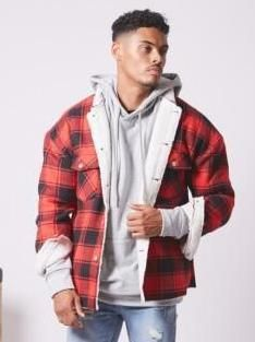 Jacket Sherpa Label Tartan Red S