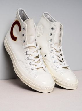 Leather Sneakers White Chuck Taylor All Star Hi Top 1970s Men 44,5