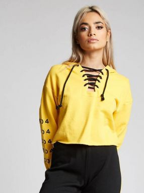 Cropped Hoodie Yellow 304 Clothing L