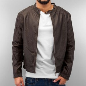 Leather Jacket Brown M