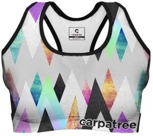 Sports Crop Top Colorful Peaks XS