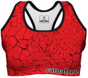 Sports Crop Top Red Cracks XS