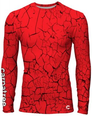 Longsleeve Rashguards Red Cracks XXL