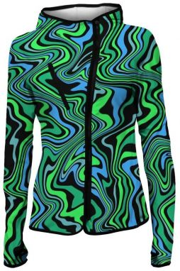 Women Sport Hoodie Green Distortion S