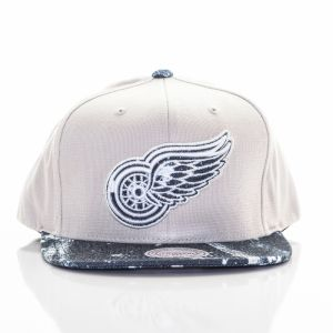 Snapback Mitchel & Ness NHL Detroit Red Wings Beige Denim Štandardná