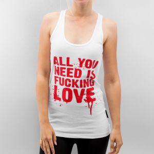 All You Need Tank Top White/Red XS