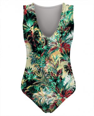 Swimsuit Tropical Jungle S