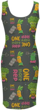 Simple Dress Funny Vegetables XS