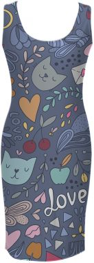 Simple Dress Cats In Love XS