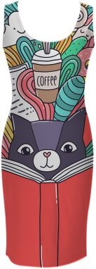 Simple Dress Cat Reading A Book XS