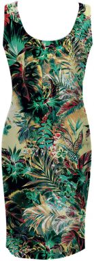 Simple Dress Tropical Jungle XS