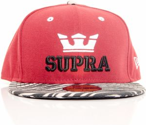 Snapback Above New Era 59Fifty Fitted Cap Burgundy 7 1/2