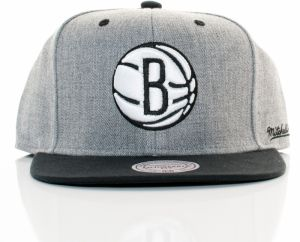 NBA snapback Back Board Nba Brooklyn Nets Grey Black Štandardná