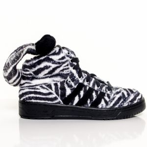 Boty Jeremy Scott Zebra Black White 5,5