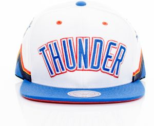 NBA snapback Team Short Jersey Oklahoma City Thunder White Blue Štandardná