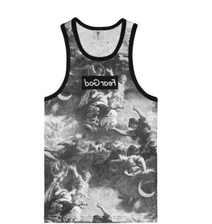 Tílko WHLB Fear God Mesh Jersey Black White S