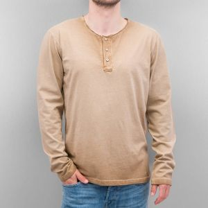 Placket Longsleeve Brown XL