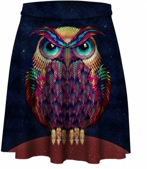 Skater Skirt Space Owl XS
