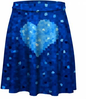 Skater Skirt Glass Heart XS