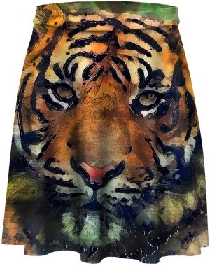 Skater Skirt Aquarelle Tiger XS