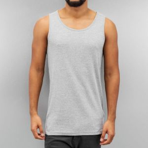 Basic Tank Top Grey Melange XL
