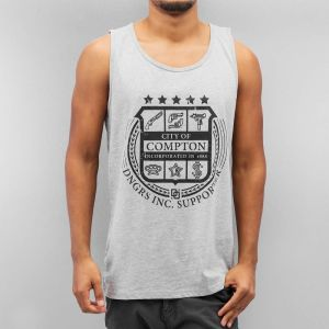 City Of Tank Top Grey Melange XXL