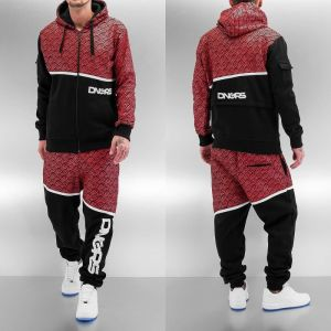 All Over Sweat Suit Black/Red XXL