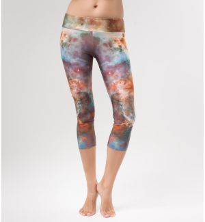 Yoga Pants Gold Nebula XS
