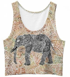 Crop Top Indian Elephant XS