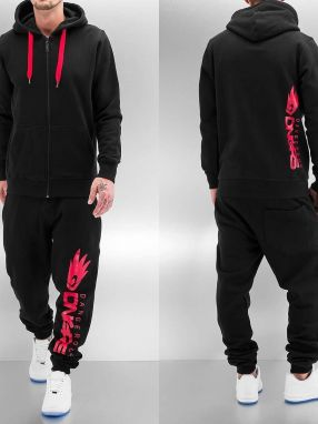 Classic Logo Sweat Suit Black 6XL