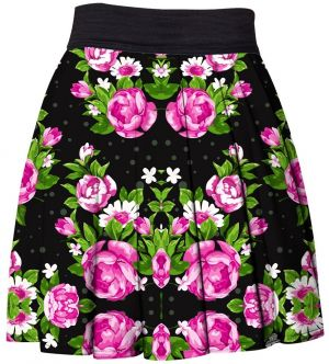 Skirt Pink Roses XS