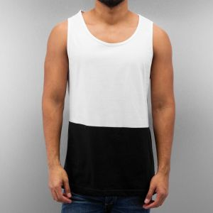 Just Rhyse 2 Tone Tank Top Black/White XXL