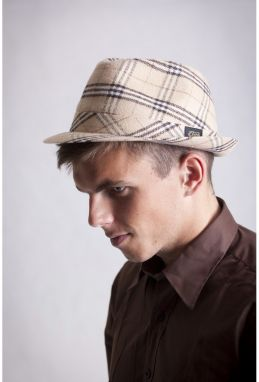Italian Hat Big Check Beige L