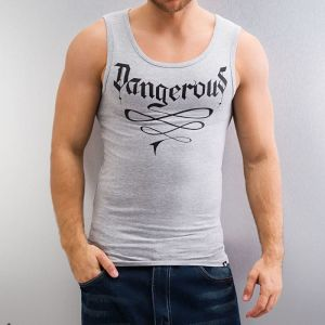 DNGRS Tank Top Grey Melange/Black XXL