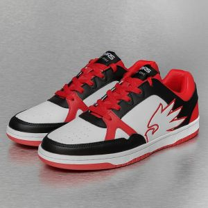 Logo Sneakers White/Black/Red 46