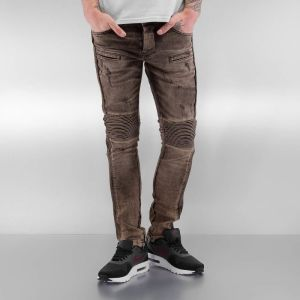 Quilted Skinny Jeans Brown 29