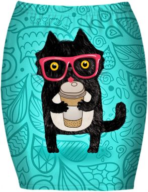 Bandeau Skirt Coffee Cat XS