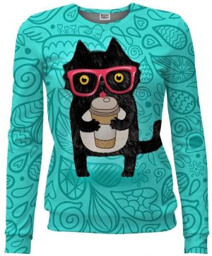 Women Fit Coffee Cat hnedá XS